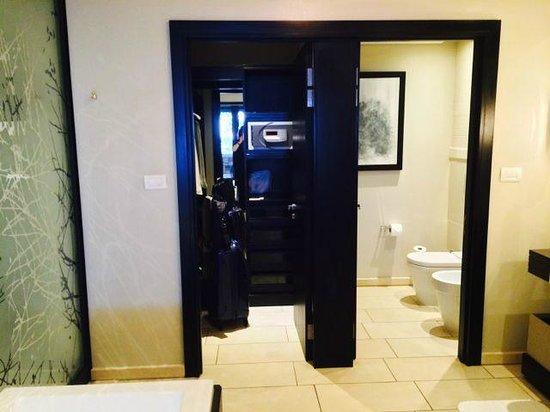 Fairmont Zimbali Resort : Toilett and Wardrobe