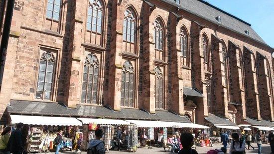 Market Square (Marktplatz) : the side facade & souvenir shops!