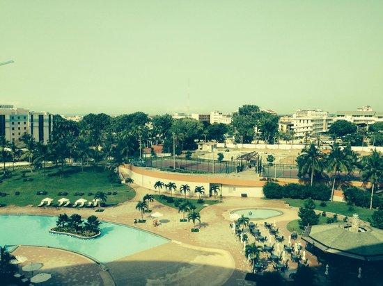 Movenpick Ambassador Hotel Accra: Looking across Accra's skyline from room on 5th floor.