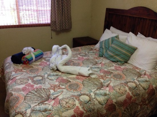 La Vida Dulce Casitas: Swan towels on the bed!!!