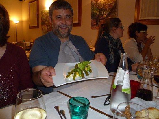 Pironetomosca: antipasto uova e asparagi
