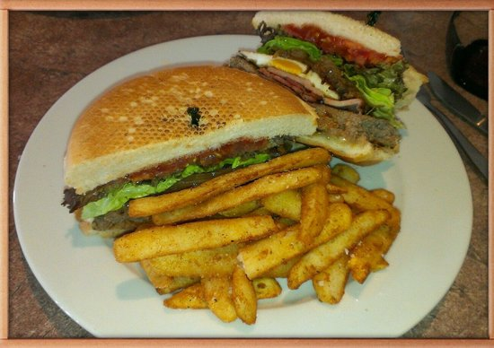 Cosis Cafe: Cosis burger & chips
