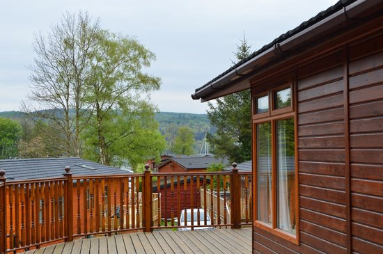 White Cross Bay Holiday Park: view from our lodge