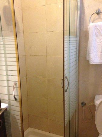 Allenby Bauhaus Apartments: grotty shower