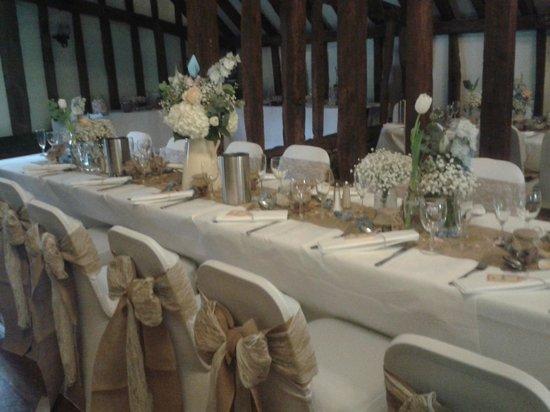 The Plough at Leigh: A Plough Barn Wedding Breakfast, Leigh, Kent