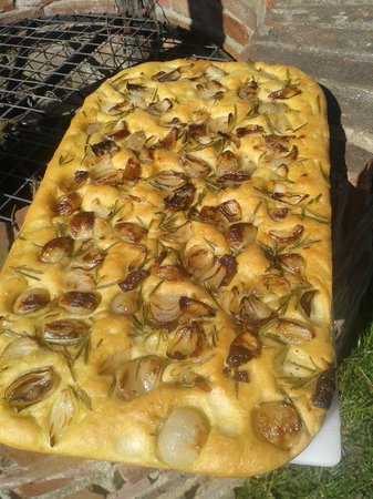 Hazel's Shallot and Rosemary Focaccia at The Plough at Leigh, Kent