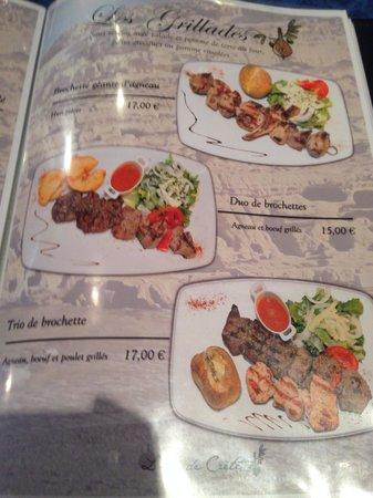 Ile de Crete : Menu