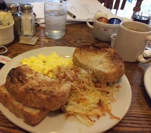 The Wooden Chair: Eggs, hash brown & toast $6.95