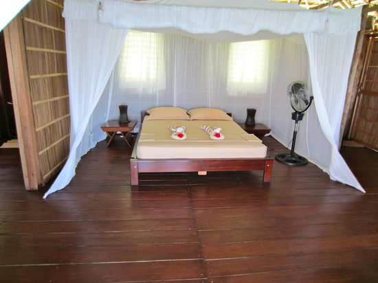 Papua Paradise Eco Resort : typical room (before we messed it up!)