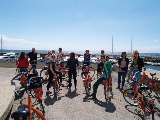 Baja Bikes Barcelona: stop aan het strand