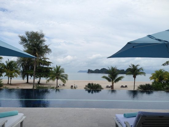 Four Seasons Resort Langkawi, Malaysia : View from the quiet pool