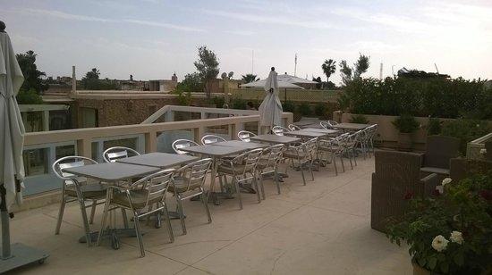 Riad Marrabahia : petit déjeuner en terrasse