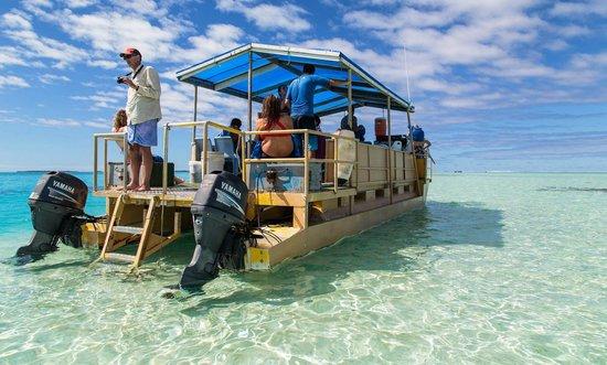 Aitutaki Adventures: Yellow boat