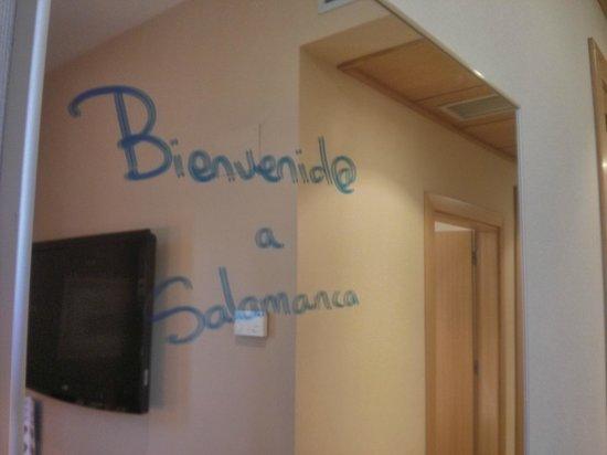 Tryp Salamanca Montalvo Hotel: Bienvenida