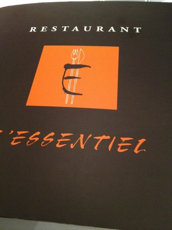 Restaurant L'Essentiel : il menu