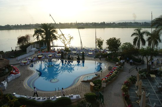 Steigenberger Nile Palace Luxor : view from our  balcony