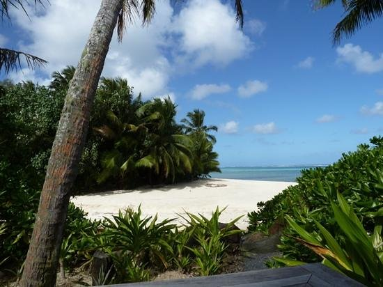 Sea Change Villas: view from the beach villa