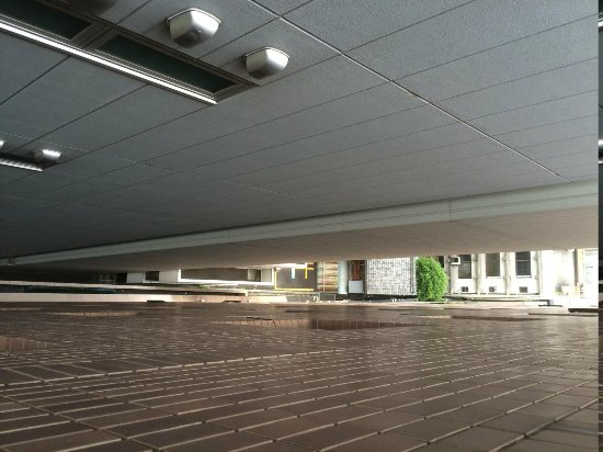 Hotel Wing International Nagoya : Space between the hotel and the next building