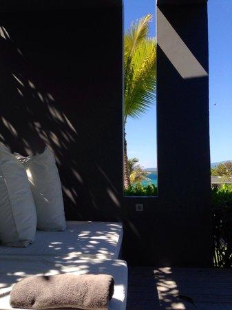 The Lombok Lodge : Poolside veranda of Villa