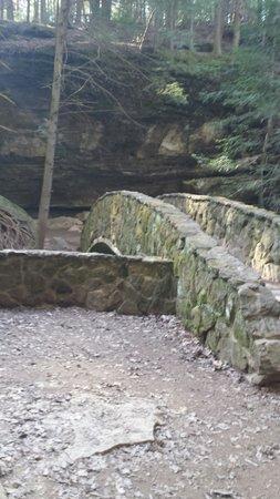 Hocking Hills State Park: Stone bridge at Old Mans Cave
