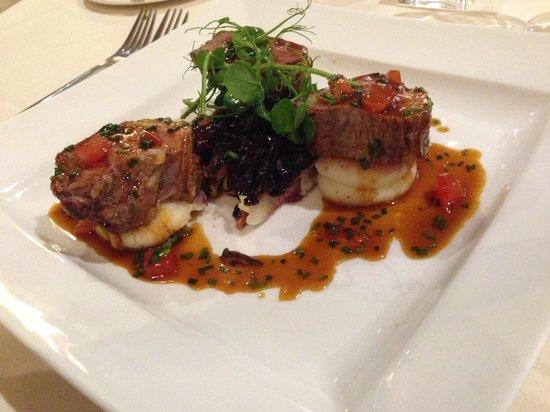 Mill House Hotel: A beautiful lamb dinner