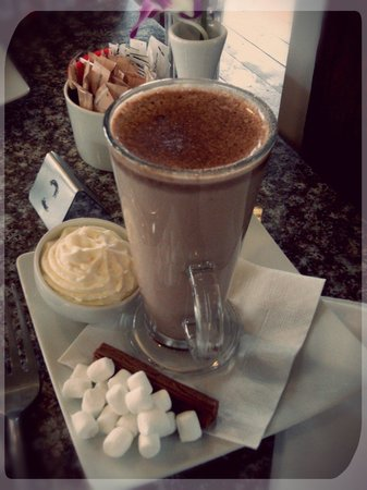 Thai Teak: Ordered a hot chocolate and got this.  It was fab!  Reccomend :)