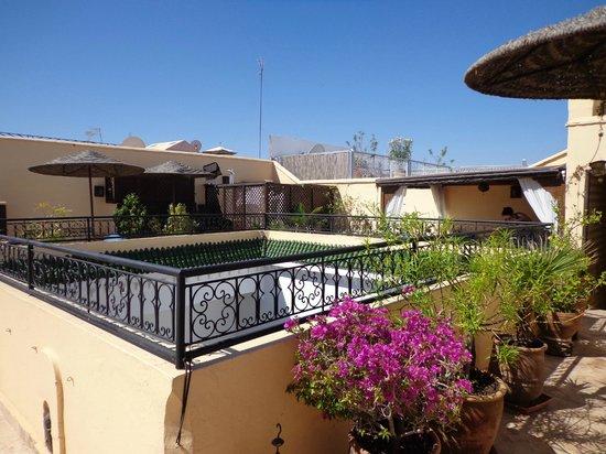 Riad Les Trois Mages: sun terrace