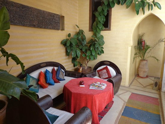Riad Les Trois Mages: relax area