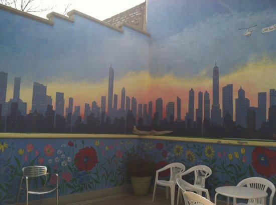 Nesva Hotel : Outside patio / breakfast area