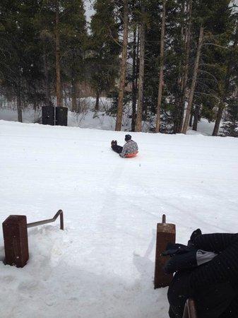 Mountain Thunder Lodge : Ski Run Behind the Lodge