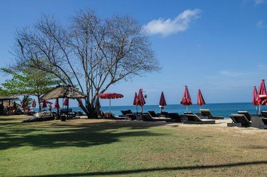 SriLanta Resort: Strandliegen