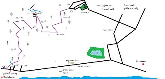 Rough map Picture of Marmaris Mountains Marmaris TripAdvisor