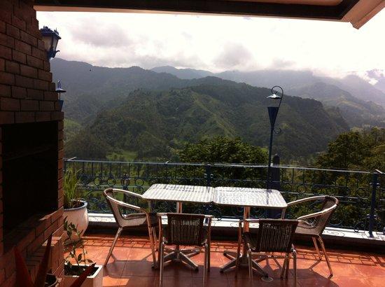 Hotel EL Mirador Del Cocora : terraza