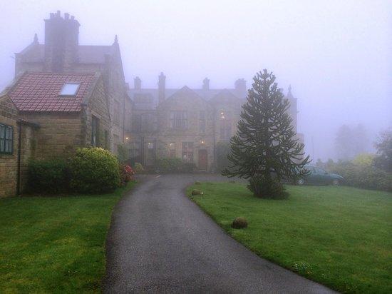 Dunsley Hall: Approach on a murky day