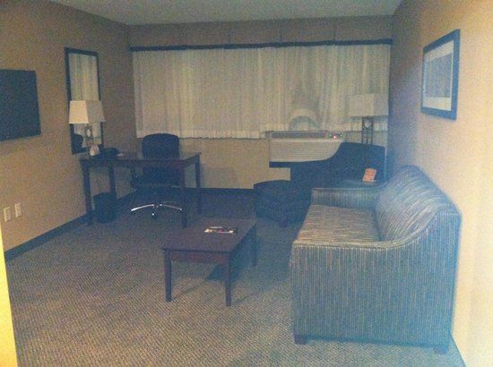 Comfort Inn & Suites: living area of the suite