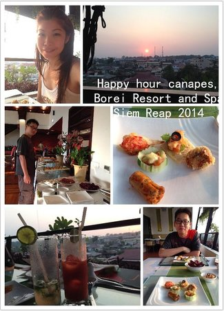 Borei Angkor Resort & Spa : Happy hour canapes, Borei Resort and Spa