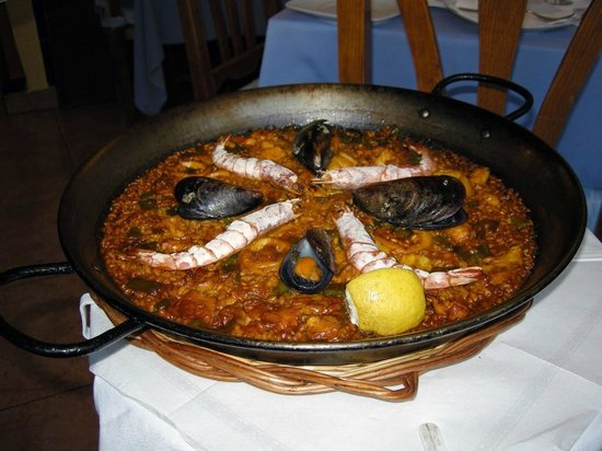 Restaurant Es Portal: The fine Paella for two people