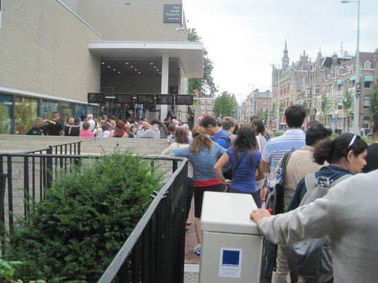 Tickets queue, Van Gogh Museum, Amsterdam, Netherlands,  July 2013