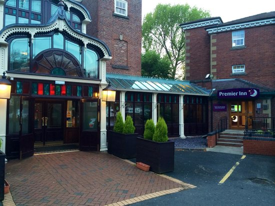 The main entrance to The Old Rectory with Premier Inn.