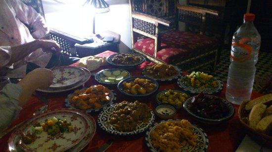Dar Fes Medina: Repas du soir