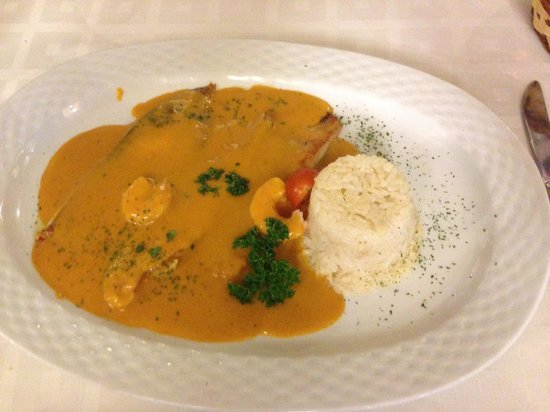 Restaurante La Solera : Lenguado con la salsa de gamba.