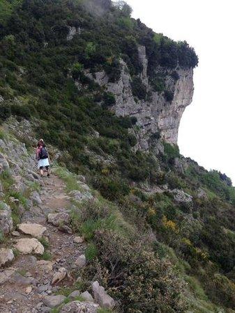 Sentiero degli dei (Path of the Gods): the orchestra was down there on the right!