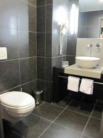 Ramada Brussels Woluwe : ビレロイボッホの陶器を使った洗面台
