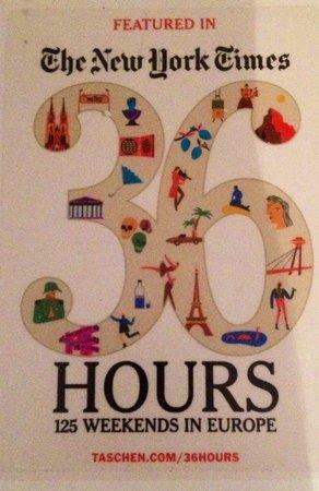Degvsta Restaurant: Salimos en el libro 36 hours 125 weekends in Europe del new York times