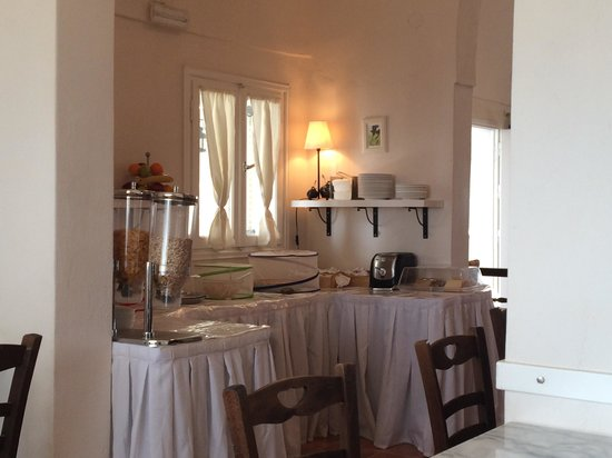 Villa Ilias Caldera Hotel : Breakfast Area in Lobby