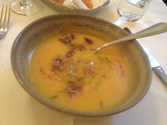 Restaurant Laloux : Butternut squash with pecans and ham.
