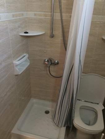 Irene Hotel and Studios: Toilet/Shower