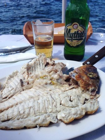 Taverna Katina: Can't get any fresher than this! And what a view!