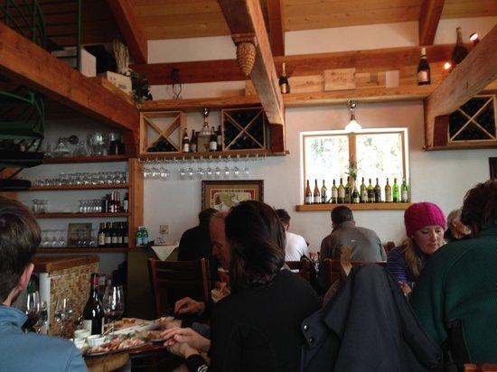 Alpino Vino: Inside small hut