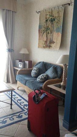 Hotel THe Volcán Lanzarote: saloncito de la jr suite